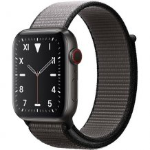 Умные часы Apple Watch Edition Series 5 GPS + Cellular 44mm (Space Black Titanium Case with Anchor Gray Sport Loop)