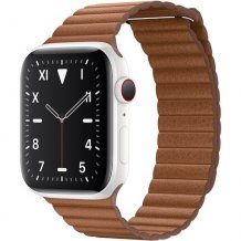 Умные часы Apple Watch Edition Series 5 GPS + Cellular 44mm (White Ceramic Case with Saddle Brown Leather Loop)