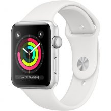 Умные часы Apple Watch Series 3 42mm (Silver Aluminum Case with White Sport Band, MTF22RU/A)