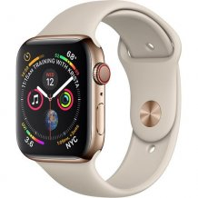 Умные часы Apple Watch Series 4 GPS + Cellular 40mm (Gold Stainless Steel Case with Stone Sport Band)