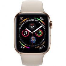 Фото товара Apple Watch Series 4 GPS + Cellular 44mm (Gold Stainless Steel Case with Stone Sport Band)