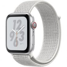 Умные часы Apple Watch Series 4 GPS + Cellular 40mm (Silver Aluminum Case with Summit White Nike Sport Loop)