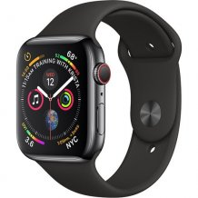 Умные часы Apple Watch Series 4 GPS + Cellular 40mm (Space Black Stainless Steel Case with Black Sport Band)