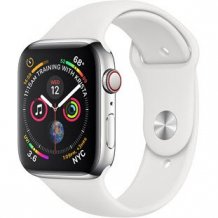 Умные часы Apple Watch Series 4 GPS + Cellular 40mm (Stainless Steel Case with White Sport Band)