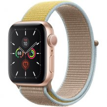 Умные часы Apple Watch Series 5 GPS 40mm (Gold Aluminium Case with Camel Sand Sport Loop)