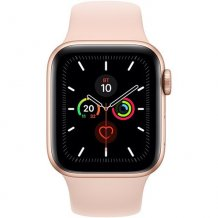 Фото товара Apple Watch Series 5 GPS 44mm (Gold Aluminium Case with Pink Sand Sport Band)