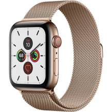 Умные часы Apple Watch Series 5 GPS + Cellular 44mm (Gold Stainless Steel Case with Gold Milanese Loop)