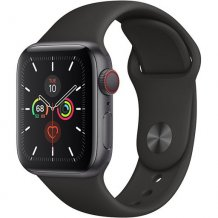 Умные часы Apple Watch Series 5 GPS + Cellular 44mm (Space Gray Aluminum Case with Black Sport Band)