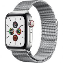 Умные часы Apple Watch Series 5 GPS + Cellular 44mm (Stainless Steel Case with Silver Milanese Loop)