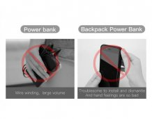 Фото товара Baseus 1+1 Wireless Charge Backpack Power Bank для iPhone X/Xs (5000мАч, белый)