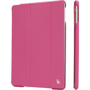 Чехол JisonCase Smart Cover книжка для Apple iPad Air (яркий розовый)