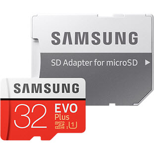 Карта памяти Samsung EVO Plus microSDHC MB-MC32GA/RU 32Gb + SD adapter