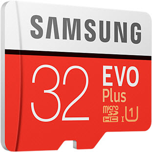 Фото товара Samsung EVO Plus microSDHC MB-MC32GA/RU 32Gb + SD adapter