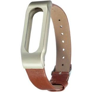 Ремешок Xiaomi Leather Wrist Band для Mi Band (brown)