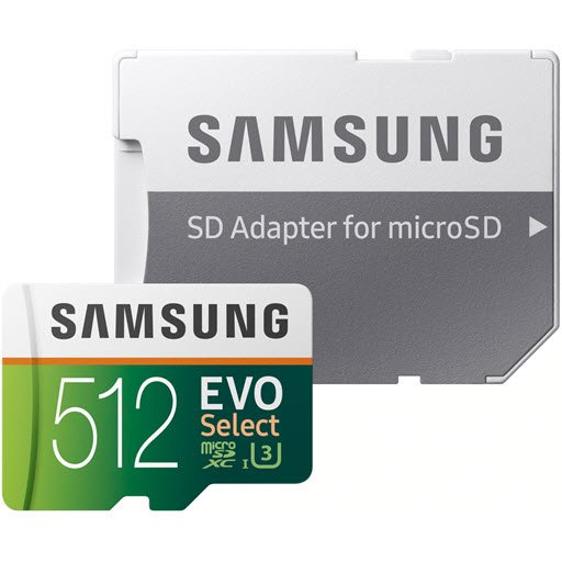 Samsung EVO Select microSDXC MB-ME512GA 512Gb + SD adapter